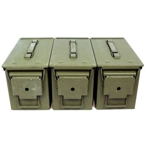 3 Pack - M2A1 50cal Size 5.56 Grade 1 Ammo Cans
