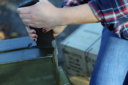 AR15 Stripper Clip Getting Loaded Into a Magpul PMAG