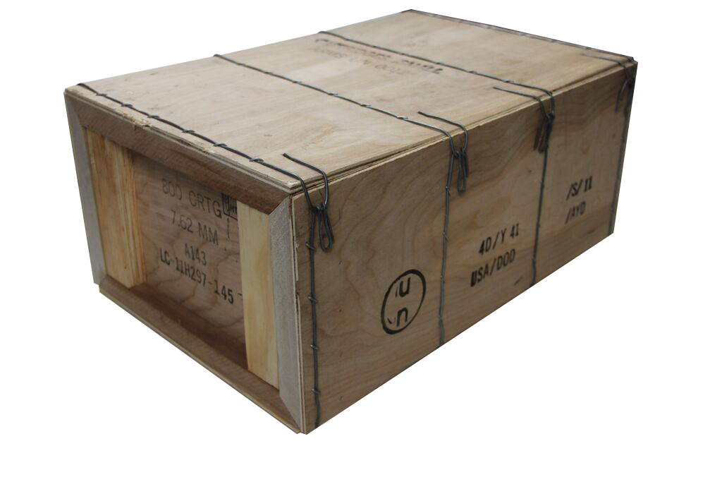 4 30cal m19a1 ammo cans in wood ammo crate clean ammo cans