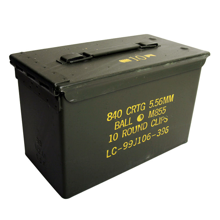 2 pack m2a1 50cal ammo cans in wood ammo crate clean ammo cans