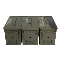 3 Pack - Grade 3 M2A1 50cal Size Ammo Cans