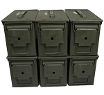 6 Pack - 50cal M2A2 Grade 1 Ammo Cans