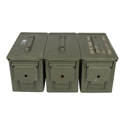 3 Pack - M2A1 50cal Grade 2 Ammo Cans