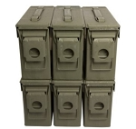 6 Pack - M19A1 30 cal Ammo Cans