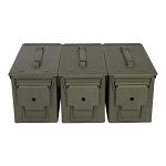 3 Pack - 9mm M2A1/M2A2 Ammo Cans