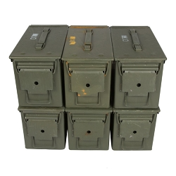 6 Pack - M2A1 50cal Grade 2 Ammo Cans