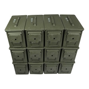 12 Pack - 50cal M2A1 5.56 Ammo Cans