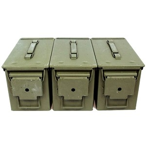 3 Pack - 50cal Size M2A1 5.56 Ammo Cans