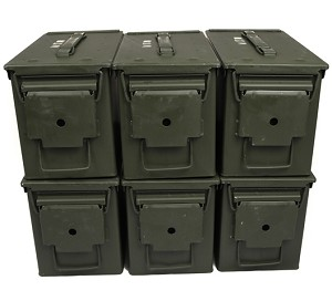 6 Pack - 50cal M2A1 5.56 Ammo Cans