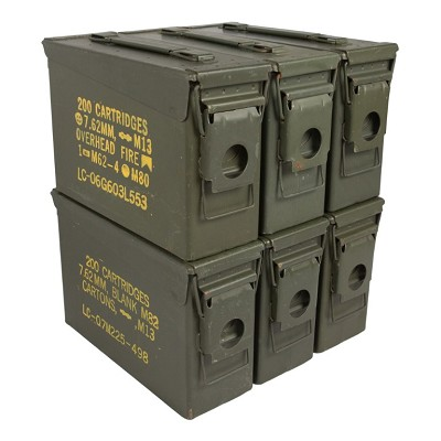 6 Pack - Grade 2 M19A1 30 cal Ammo Cans