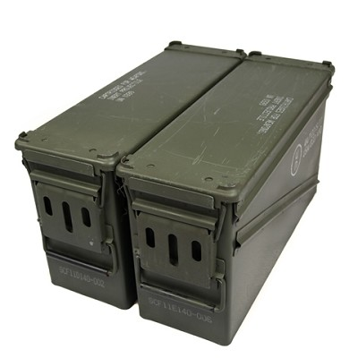 2 Pack - PA-120 40MM Surplus Ammo Cans